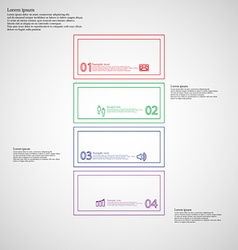 Infographic with bar divided to four color parts vector