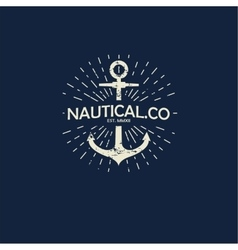 inspirational template of nautical style logo vector image