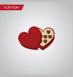 Isolated chocolate flat icon shaped box vector