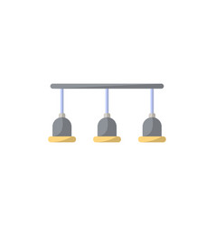 lamps isolated icon in flat style vector image
