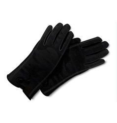 leather gloves icon realistic style vector image