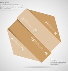 Light infographic with hexagon askew divided to vector