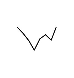 line chart icon vector image