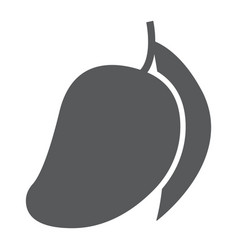 mango glyph icon fruit and vitamin tropical vector image