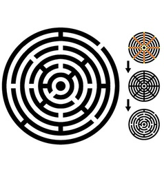 Maze - easy change - change color any piece vector