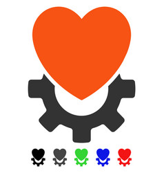 Mechanical heart flat icon vector