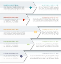Modern arrow elements of infographic vector image