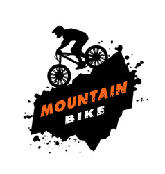 Mountain bike trials emblem vector