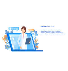 online doctor medical consultation and support vector image