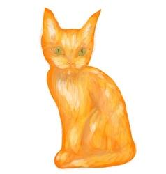 Orange tabby kitten vector