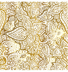 paisley background hand drawn ornament vector image