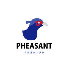pheasant flat logo icon vector image