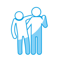 pictogram people design vector image