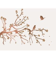 plum flowers blossom vector image