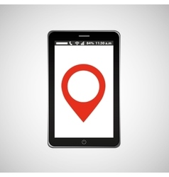 Pointer map mobile phone navigation vector