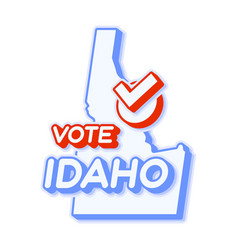 Presidential vote in idaho usa 2020 state map vector