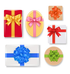 Realistic gift box set vector