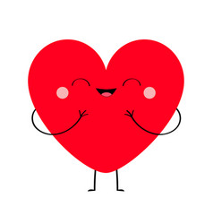 red heart icon happy valentines day sign symbol vector image