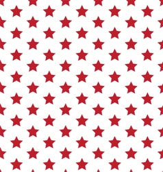 Red Stars On White Seamless Pattern vector image