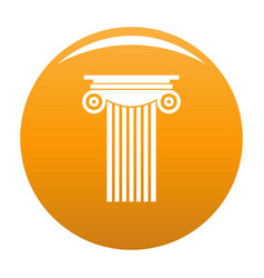 Reinforced concrete column icon orange vector