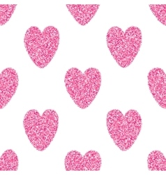 Seamless Background With Pink Hearts vector
