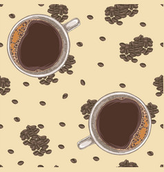seamless pattern with coffee vector image