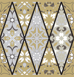 seamless texture mosaic patchwork ornament vector image