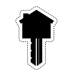 security key isolated icon vector image