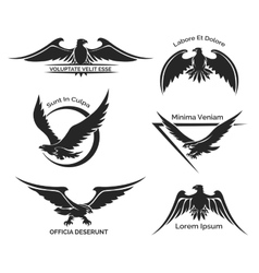 Set eagle logo vector