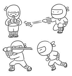 set ninja vector image