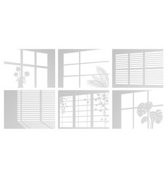 Shadow and light from windows with blinds vector