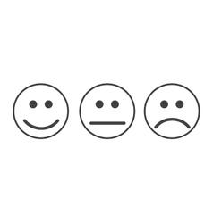 Smiley emoticons icon vector image