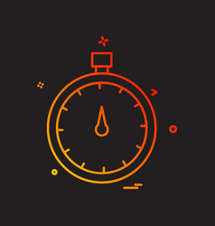 stopwatch icon design vector image