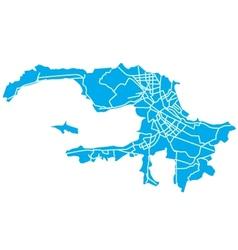 stpetersburg map vector image