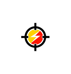 Target power icon logo design element vector