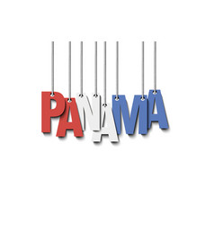 The word panama hang on the ropes vector