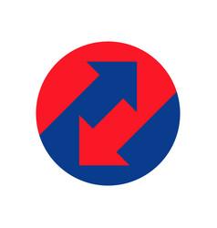 up down arrows icon vector image