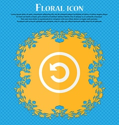 Upgrade arrow update icon sign Floral flat design vector