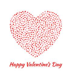 valentines day card design v vector image