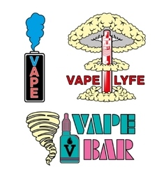 vape bar logo vector image