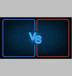 versus battle vector image