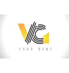 vg black lines letter logo creative line letters vector image