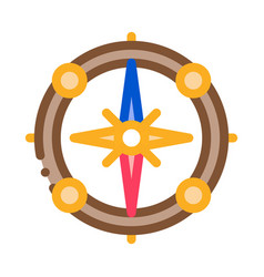 vintage compass icon outline vector image