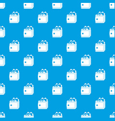 wallet with cash pattern seamless blue vector image