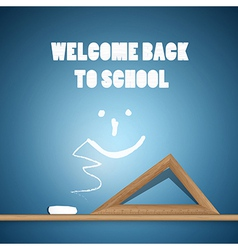 Welcome Back to School Blue Background vector