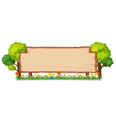 wooden banner in nature vector image