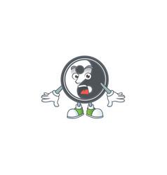 Yin yang cartoon design on a surprised gesture vector