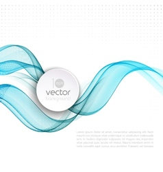 Abstract transparent wave template background vector image vector image