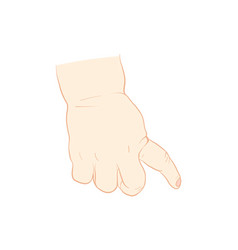 baby hand drawing vector image