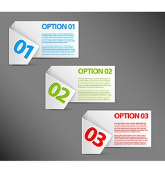 One two three - white paper options vector image vector image
